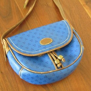 Vintage Liz Claiborne Blue Crossbody Bag